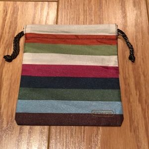 New Coach striped coloured Dust bag w/ draw string